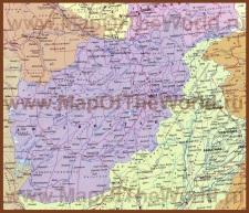 Карта Афганистана на русском языке