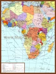 Карта Африки на русском языке