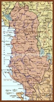 Подробная карта Албании на русском языке