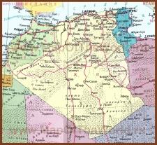 Подробная карта Алжира на русском языке