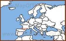Андорра на карте Европы