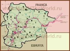 Горнолыжная карта Андорры с трассами