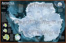 Подробная карта Антарктиды