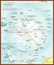 Политическая карта Антарктиды