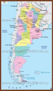 Политическая карта Аргентины