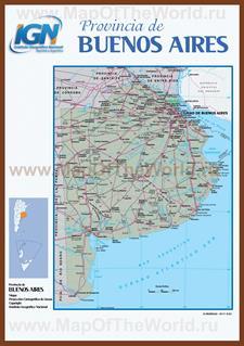 Подробная карта провинции Буэнос-Айрес