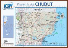 Подробная карта провинции Чубут
