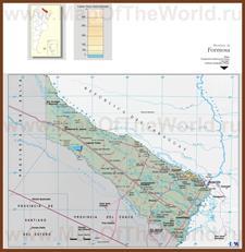 Подробная карта провинции Формоса