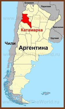 Катамарка на карте Аргентины