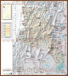 Подробная карта провинции Катамарка