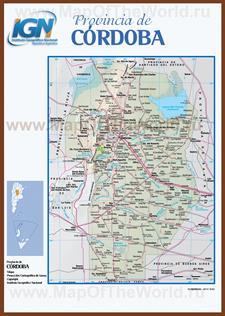 Подробная карта провинции Кордова