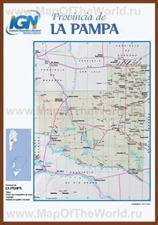Подробная карта провинции Ла-Пампа
