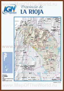 Подробная карта провинции Ла-Риоха