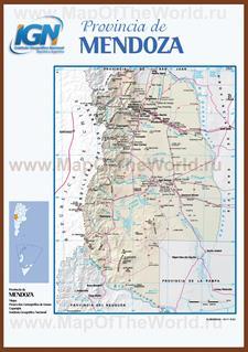 Подробная карта провинции Мендоса
