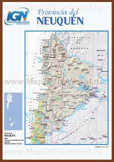 Подробная карта провинции неукен