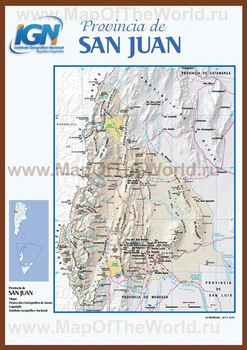 Подробная карта провинции сан хуан