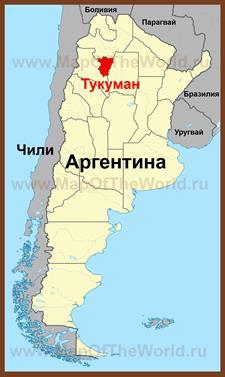Тукуман на карте Аргентины