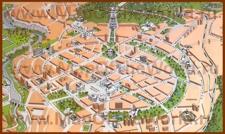 Карта центра Еревана с достопримечательностями