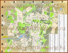 Подробная карта города Ереван с улицами