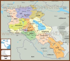 Политическая карта Армении