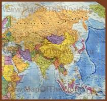Карта Азии на русском языке