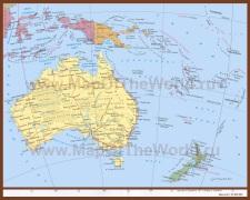 Карта австралии на русском языке