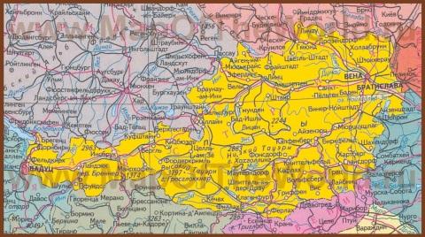 Карта Австрии на русском языке