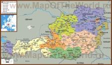 Политическая карта Австрии