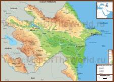 Физическая карта Азербайджана