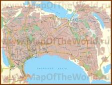 Подробная карта города Баку с улицами