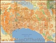 Подробная туристическая карта Баку