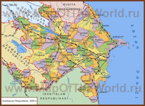 Карта районов Азербайджана