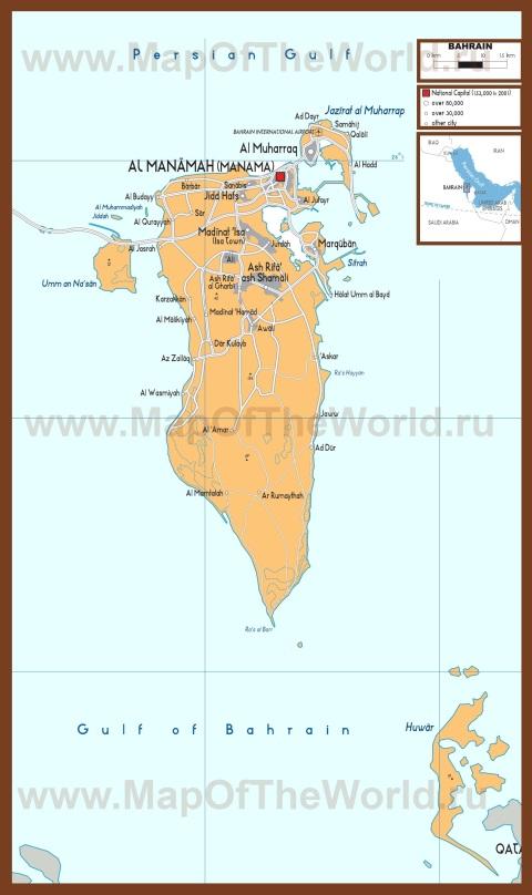 Политическая карта Бахрейна