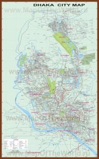 Подробные карты города Дакка