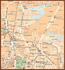 Туристическая карта Дакки с достопримечательностями