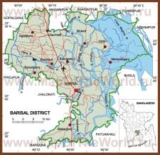 Карта области Барисал