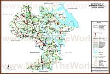 Подробная карта Барисала