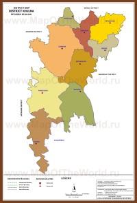 Административная карта Кхулны
