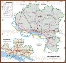 Подробная карта Раджшахи