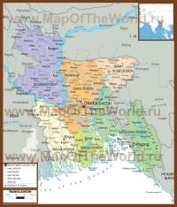 Политическая карта Бангладеша