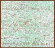 Карта Белоруссии с городами