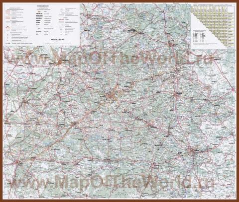 Карта дорог Белоруссии