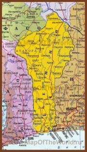 Карта Бенина на русском языке