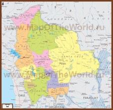 Политическая карта Боливии
