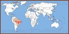 Бразилиа на карте мира