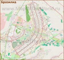 Подробная карта города Бразилиа
