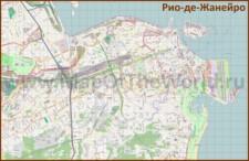 Подробная карта города Рио-де-Жанейро