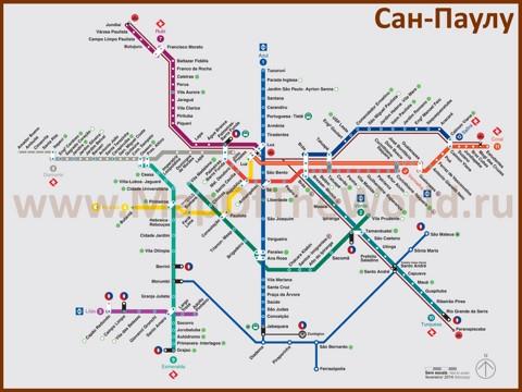 Карта метро Сан-Паулу