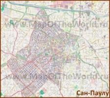 Подробная карта города Сан-Паулу