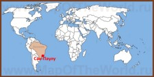 Сан-Паулу на карте мира